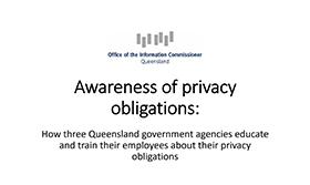image of Awareness of Privacy Obligations Audit presentation