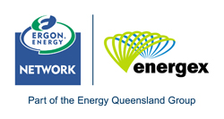 Ergon Energex energy network logo