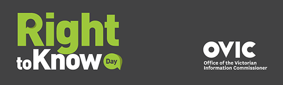 Office of the Victorian Information Commissioner Right to Know Day logo