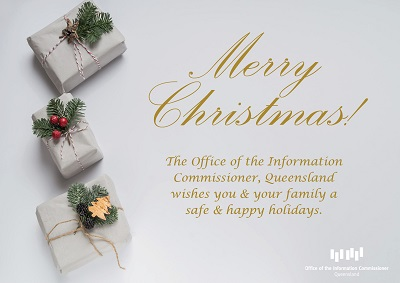 Christmas image with greeting and parcels